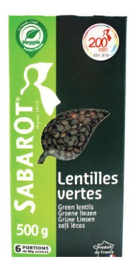 Imagem 1 de 1 de Lentilhas Verdas Da Franca Sabarot 500g