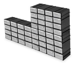 Kit Com 3 Organizadores Mini Modulável 7001 Com 16 Gavetas