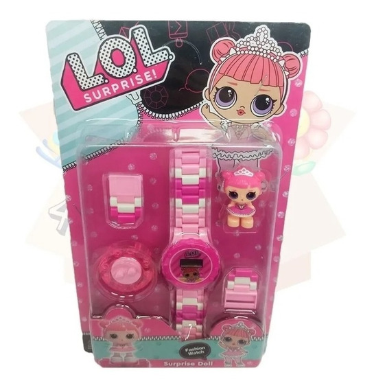 Relógio Digital Infantil Boneca + Mini Boneca
