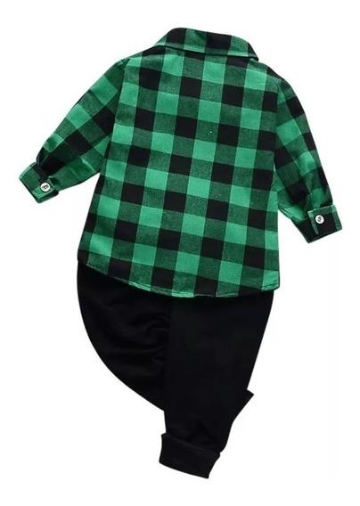 Camisa Escocesa Entallada Niños -talles Del 4 Al 16 Unisex