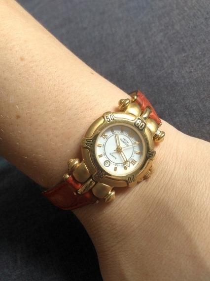 Relógio Cosmos Quartz Original Dourado