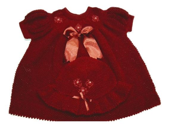 Vestido De Inverno Infantil Bebê Saida De Maternidade