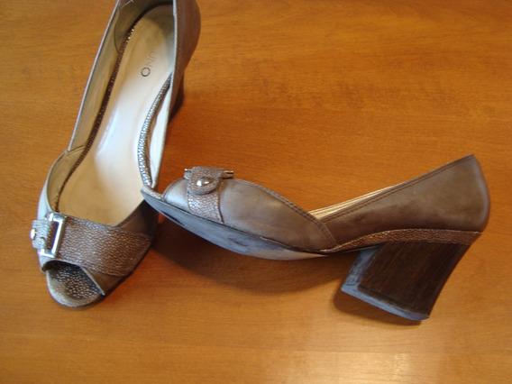 Zapatos De Cuero Vía Uno Nº 38