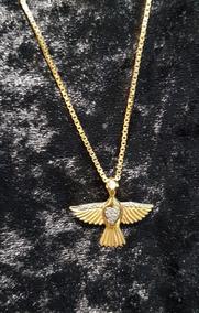 Colar De Ouro Com Pingente Espírito Santo