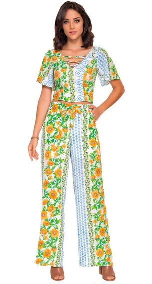 Conjunto Longo Estampado Floral 1318026