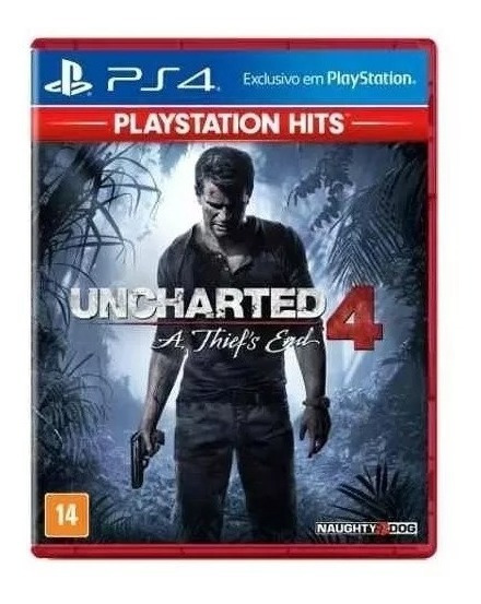 Jogo Uncharted 4 A Thiefs End Ps4 Mídia Física Novo Lacrado