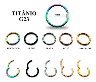 Piercing Argola Articulada Em Titânio G23 Alta Qualidade