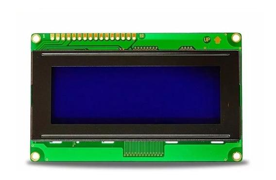 Lcd 20x4 Com Backlight Azul E Escrita Branca