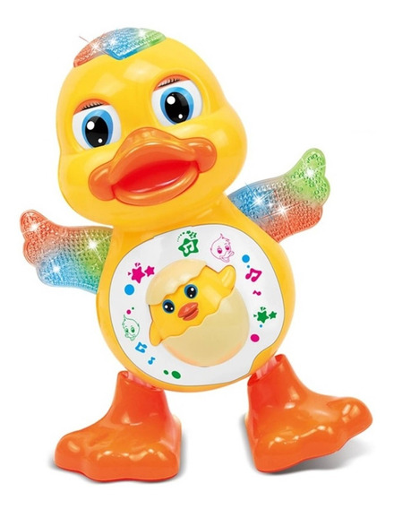 Pato Dançante Brinquedo Musical Dança Anda Mexe Luz E Som