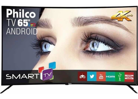 Tv Philco 65 Smart Curve Android 4k