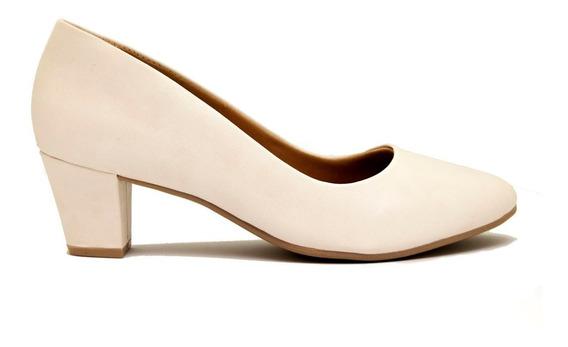 Zapatos Clásicos Mujer Cuero Ecológico Blanco Ramarim Taco 5