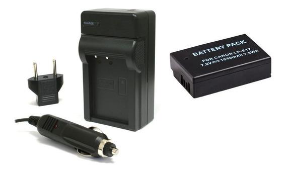 Bateria Carregador Lp-e17 Para Canon Eos Rebel T6i T6s Sl2