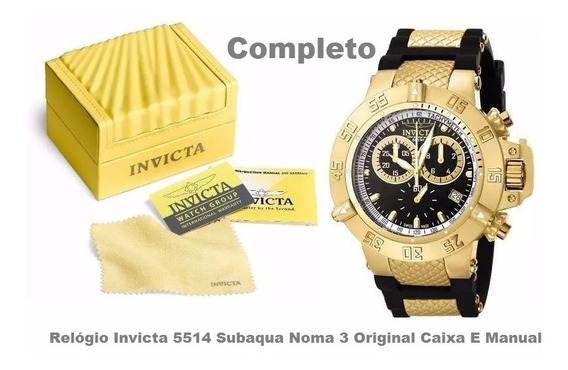 Relógio Invicta 5514 Subaqua Noma 3 Original Caixa E Manual