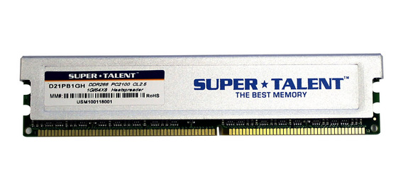 Memoria Ram 1gb Super Talent Ddr266 64x8 Cl2.5 16-channel (pc And Mac G5) D21pb1gh