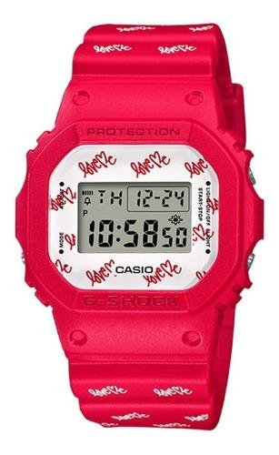 Imagen 1 de 9 de Reloj Casio G-shock Edicion Limitada Love Me Dw-5600lh-4cr