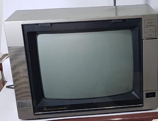 Tv Antiga Mitsubishi 14 Polegadas Colorida Funcionando 1991