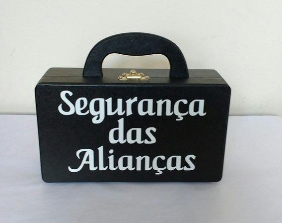 Maleta Porta Alianças Segurança Das Alianças Almofada Cetim
