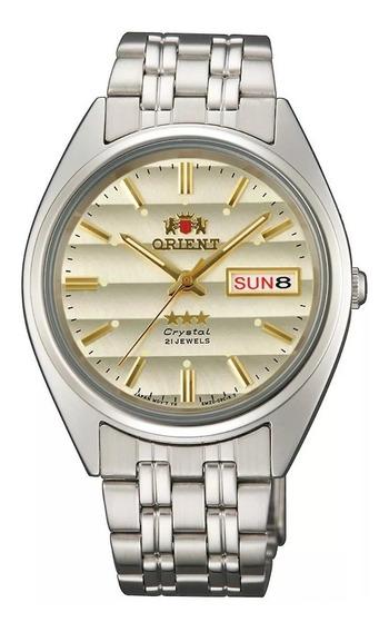 Reloj Orient Automático Plateado-beige Fab0000dc9 De Hombre