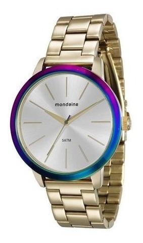 Relógio Mondaine Feminino Dourado 76638lpmvde1 Na Promoção!!