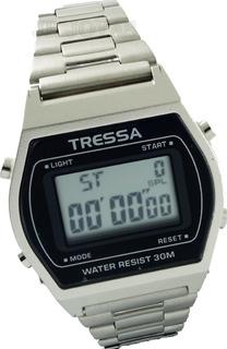 Reloj Tressa T-cognac Acero Plateado Vintage Digital Garantia