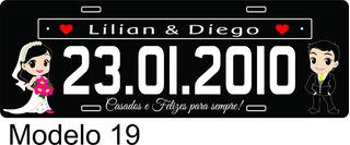 Placa De Carro Personalizada Casamento Exposição Decorativa
