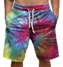 Bermuda Shorts Microfibra Tie Dye Hippie Tumblr Frete Gratis