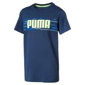 Camisa Infantil Hero Tee Azul\verde - Puma - Original