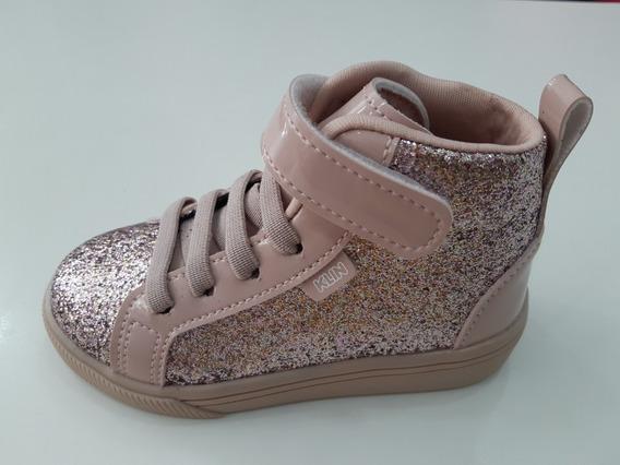Tênis Sneaker Infantil Klin Rosa Candy Verniz/brilhos 22114