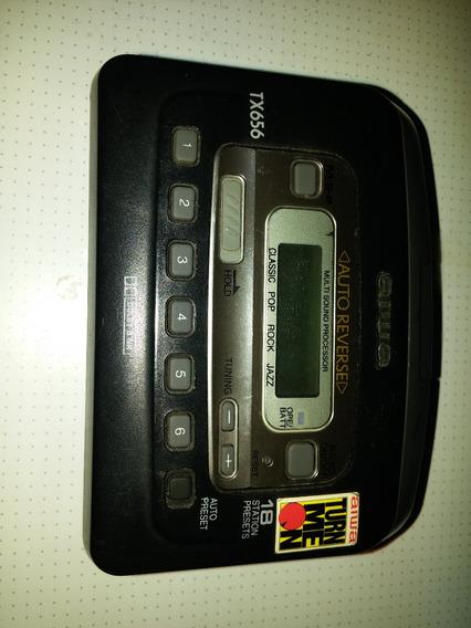 Walkman Aiwa Tx656 (anos 90) + Manual Funcionando Perfeito!