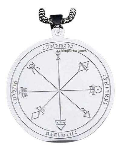 Nuevo Sello Magia Wicca Alquimia Protección + Cadena
