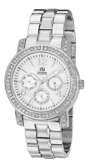 Relógio Feminino Ana Hickmann Ah30095q Prata Multifunção