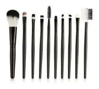 Set De Brochas Para Maquillaje De 10 Piezas Envío Gratis