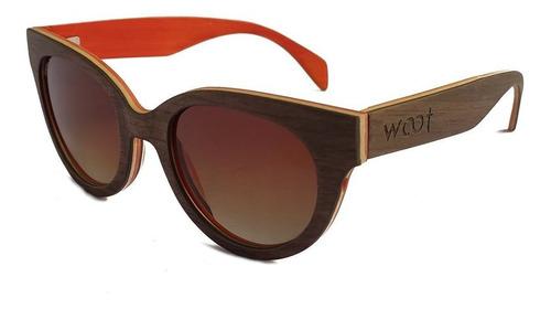 Gafas  Anteojos Sol 100% Madera Woot8 - Sunset Walnut