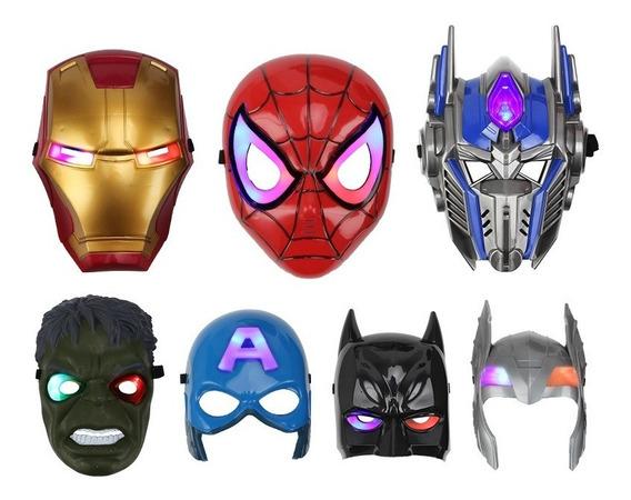 Máscaras Personajes Avengers Con Luces Led