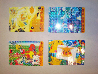 Lote 4 Trading Card Pocket Monsters Pokemon Japon 1999 Anime