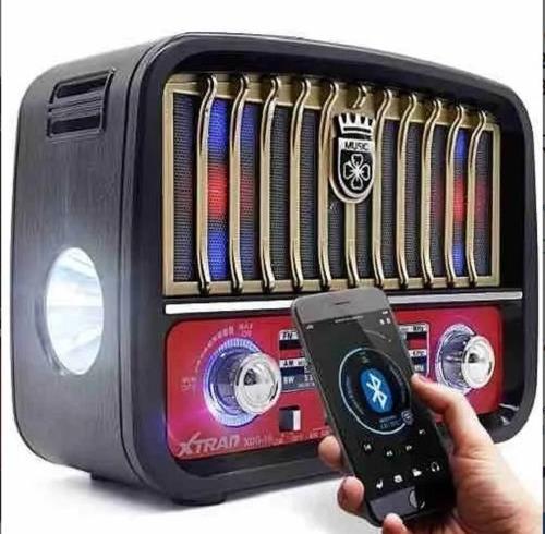 Rádio Retro Vintage Fm Am Usb Sd Bluetooth Bateria J-108t