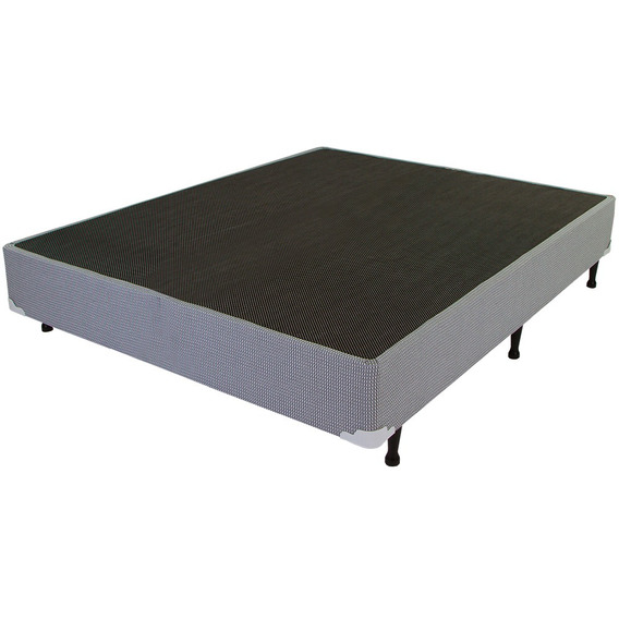 Base Cama Box Casal New Maxi Luckspuma 138x188x30 Cinza