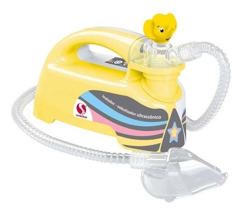 Nebulizador ultrassônico Soniclear Pulmosonic Star Premium amarelo 110V/220V