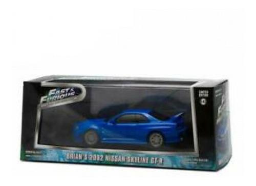 Imagem 1 de 2 de  Nissan Skyline Gt-r Azul Fast Furios 2002 1/43