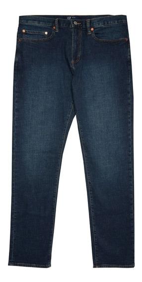Jeans Hombre Pantalon Mezclilla Corte Slim Azul 912027 Gap