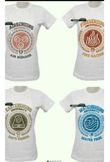 Camisas Nações Avatar 4 Unid