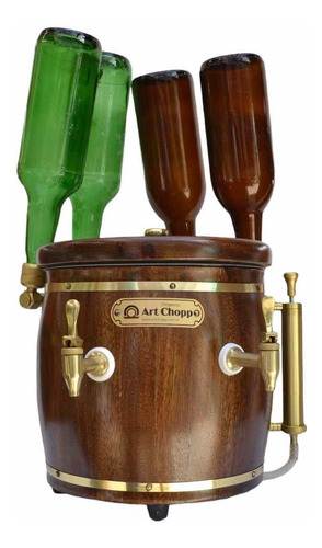 Chopera Cerveza O Refresco 4 Botellas Serpentina Barril Fria