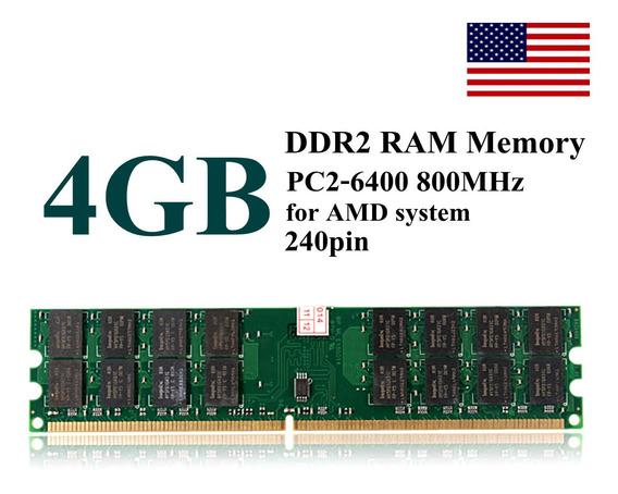 4 Gb Ddr2 Dimm Memória Ram Pc2-6400 800 Mhz 240pins Cartão D