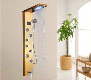 Regadera Columna Ducha Led Jet Jacuzzi Tina Baño Display