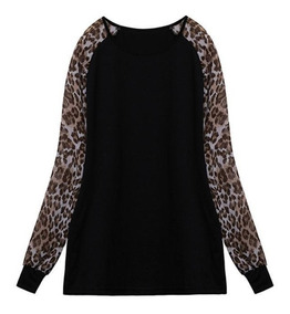 Tamanhos Nobres Blusa Plus Size T-shirt Manga Longa Oferta