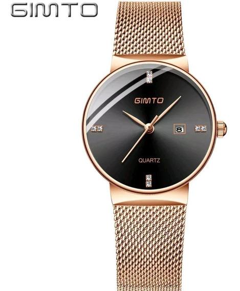 Relógios Originais De Luxo Gimto Frete Grátis Feminino