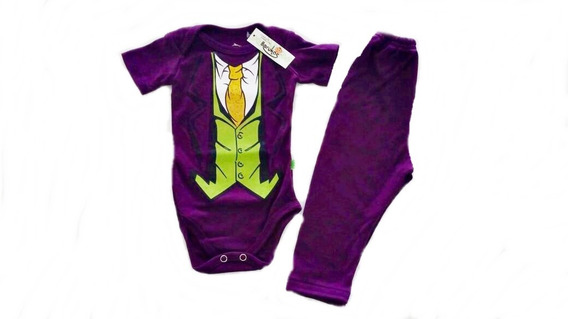 Conjunto Disfraz Joker Guazon Batman Halloween
