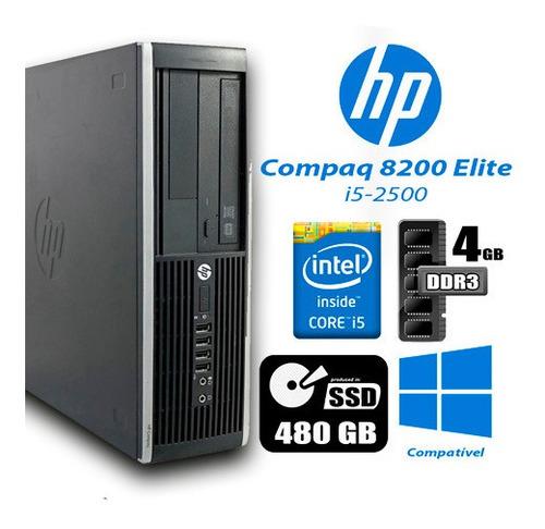 Imagem 1 de 2 de Hp 8200 Elite I5 4gb Ram 480gb Ssd + Monitor 18
