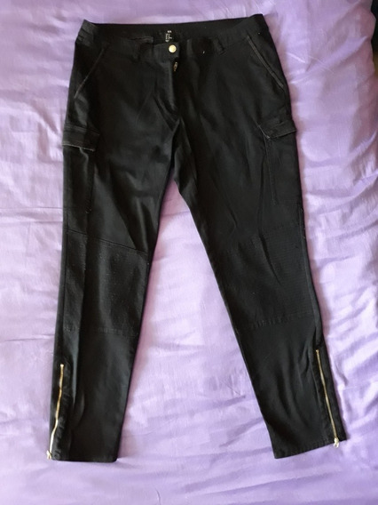 Pantalón Casual Para Dama H & M Negro Talla 14