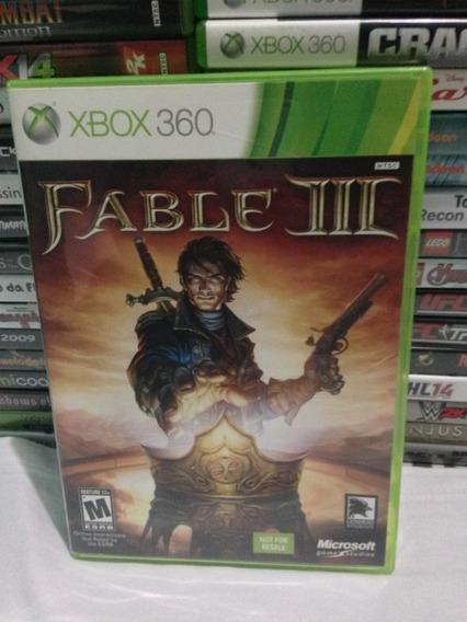 Fable Iii 3 Midia Fisica Xbox 360 Retrocompativel Xbox One